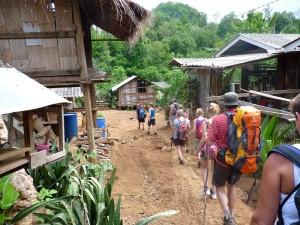 Trekking Chiang Mai-groep-dorp