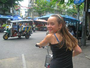gezinsreis Thailand - fietsen door Bangkok