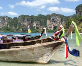 Longtailboot Zuid Thailand reizen bouwstenen
