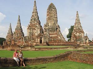 Ayutthaya tempels vakantie naar Thailand