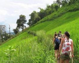 Wandeling heuvels Thailand