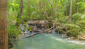 Erawan waterval Thailand