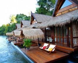 Luxe drijvend huisje thailand