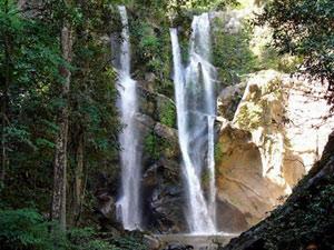 Waterval bij Pai Thailand