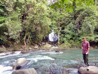 Wandelen bij het water Thailand