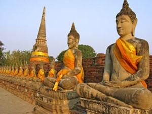 Zittende buddha Thailand