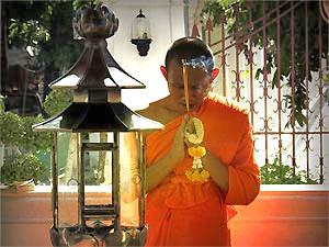 Monnik in Bangkok Thailand