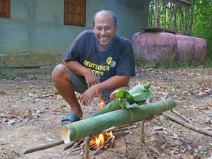 Thailand regenwoud kook demonstratie