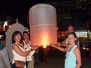 ballon op strand Thailand