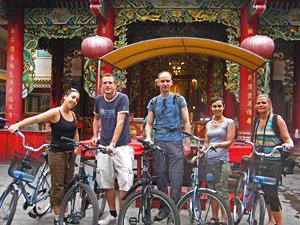 fietsen in Bangkok Thailand