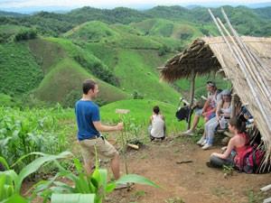 Thailand trekking rijstvelden