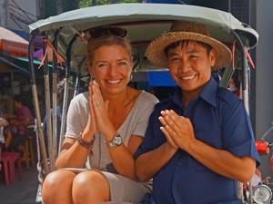 Thailand vakantie - riksja en local