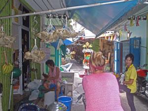 Fietsen door Bangkok Thailand