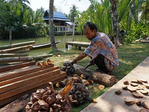 Fruit snijden Thailand