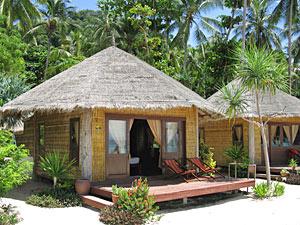 Overnachten Thailand - hutje aan strand