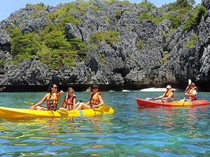 kajakken en snorkelen thailand
