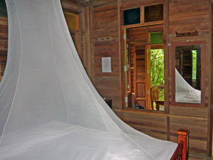 Thailand klamboe in jungle lodge