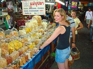 Thailand trekking boodschappen doen markt