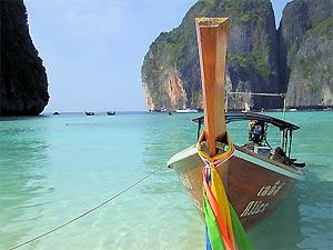 longtailboot strand Ko Hai Thailand