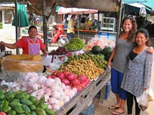 Markt in Khanom Thailand