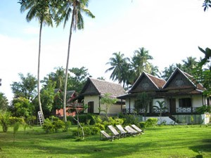 Het platteland van Laos