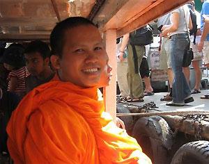 Thailand Ayutthaya monnik