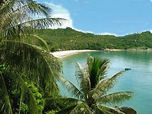 Eilandhoppen Thailand Ko Phangan baai