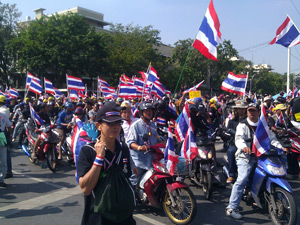 Bangkok demonstraties Thailand