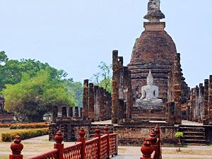 Tempels Sukhothai reis door Thailand
