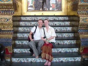 Onze reizigers in thailand