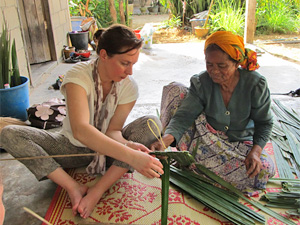 Bij de thai reis Thailand