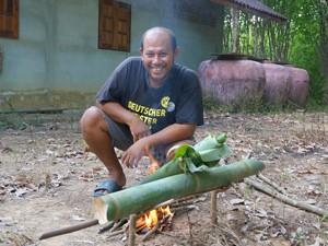 Rijst maken in Thailand