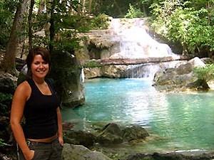 Thailand river kwai Erawan watervallen