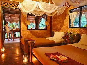 Slaapkamer River Kwai Thailand