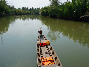 Boot in de rivier Thailand