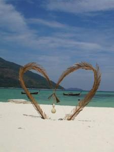 hart op het strand Thailand