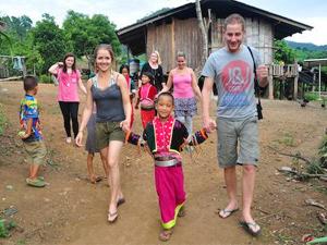 Trekking naar Karendorpen Thailand