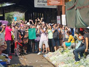 Trein markt in Thailand