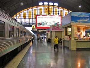 Treinstation Bangkok laos en thailand