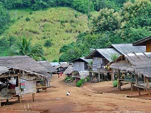 Thailand trekking bergdorp