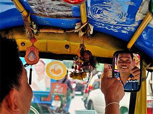 Reizen door thailand met tuk tuk