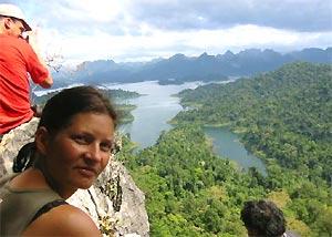 uitzicht Khao Sok selfdrive Thailand