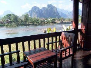 Terras Vang Vieng Laos