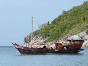 Zeilen tussen Thaise eilanden Thailand