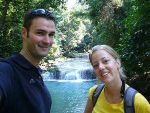 watervallen river kwai thailand