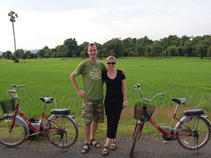 fietsen khong eiland laos