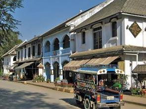 straatbeeld luang prabang laos