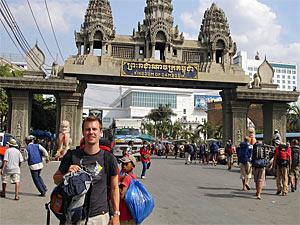Gensovergang Cambodja - Combi-reis Laos Vietnam Cambodja
