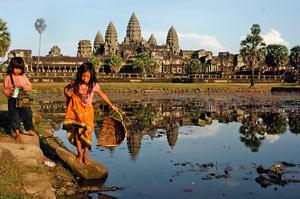 kinderen voor angkor wat cambodja