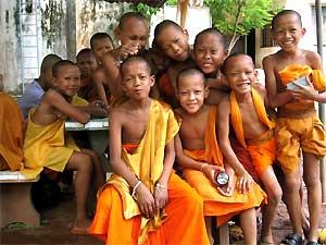 kleine monniken luang prabang laos